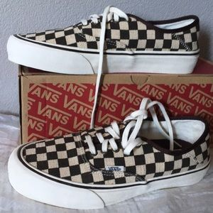 Vans Shoes - Distressed Check8.5